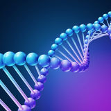 Digital nature, medical science vector background with DNA molecules Stock Photos