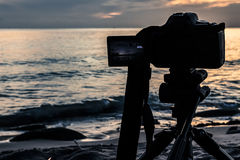 Digital Nature Photography. Nature photography with a digital camera tripod Royalty Free Stock Photos