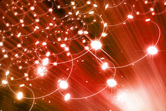 Digital network. Concept on red background vector illustration
