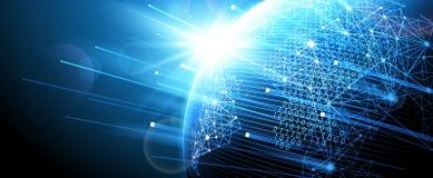 Digital network. Vector. Internet technology, Digital network background, World map point. Vector illustration Stock Photography