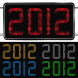 Digital New Year 2012. Digits of new year 2012 Royalty Free Stock Image