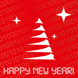 Digital new year card Royalty Free Stock Images