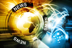 Digital news background Royalty Free Stock Photo
