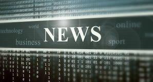 Digital news Royalty Free Stock Image