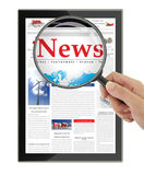 Digital news Stock Photography