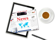 Digital news Stock Photo