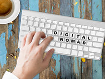 Digital Nomad words conceptual. Royalty Free Stock Photo
