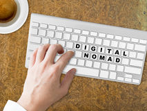 Digital Nomad words conceptual. Stock Photos