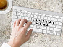 Digital Nomad words conceptual. Royalty Free Stock Images
