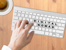 Digital Nomad words conceptual. Stock Photography