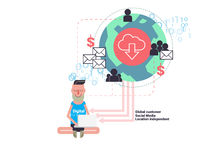 Digital nomads concept vector illustration Stock Image