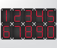 Digital number Stock Image