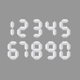 Digital number  art illustration. Digital number  illustration on grey background Vector Illustration