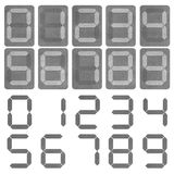 Digital number on leather texture Stock Photos
