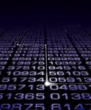 Digital Number Matrix Stock Image