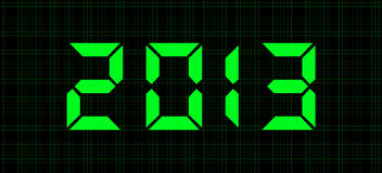 Digital numbers - 2013. Txt - 2013. New years background stock illustration