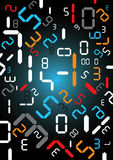 Digital numbers background. Stock Images
