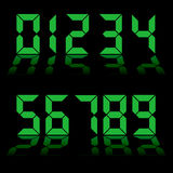 Digital numbers clock Royalty Free Stock Photo