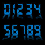 Digital numbers clock blue Stock Photo