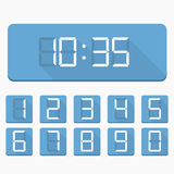 Digital Numbers and Clock Stock Photo