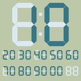Digital numbers in green colors  illustration Royalty Free Stock Photos