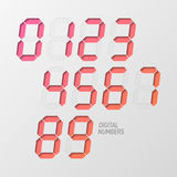 Digital numbers set Stock Photos