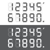 Digital numbers set. Vector illustration. Calculator digital. Calculator digital numbers. Digital numbers set. Vector illustration Royalty Free Illustration