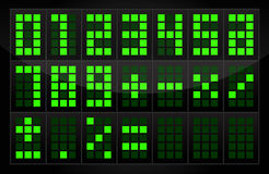Digital Numbers Table. Vector digital numbers table illustration Stock Photo