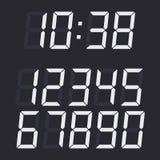 Digital numbers vector set. Royalty Free Stock Image
