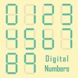 Digital numbers. Vector set of digital display numbers Royalty Free Stock Photos