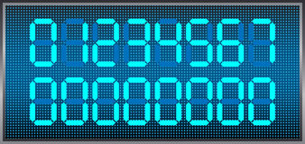 Digital numbers. Vector set of digital display numbers Royalty Free Stock Image