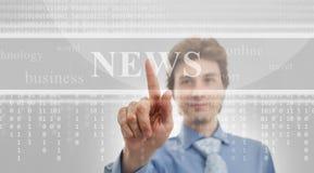 Digital nyheterna royaltyfria bilder