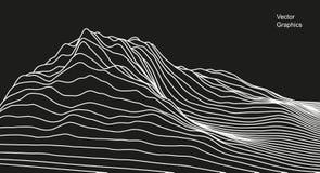 Digital-Oberfläche gemacht von den Linien Abstrakte Technologieabbildung - Datei des Vektor stock abbildung