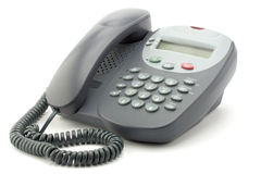Digital office telephone. With shade on a white background Stock Photo