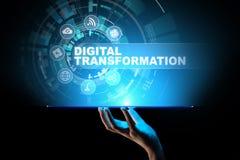 Digital omformning, söndring, innovation Affär och modernt teknologibegrepp royaltyfria bilder