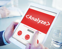 Digital Online Analyze Plan Research Working Concept Royalty Free Stock Photography