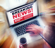 Digital Online Breaking News Headline Concept Royalty Free Stock Photo