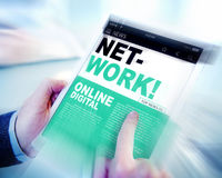 Digital Online News Headline Network Concept Stock Image