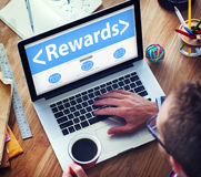 Digital Online Rewards Profit Office Working Concept Royalty Free Stock Photos