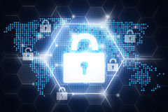 Digital online security design Royalty Free Stock Images
