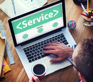 Digital Online Service Assistance Office Working Concept Royalty Free Stock Photo