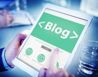 Digital Online Social Media Blog Working Concept Stock Image