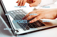 Digital Online Update Upgrade Office Working Concept. Optimize Royalty Free Stock Photos