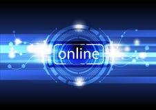 Digital-Onlinekonzepthintergrund Lizenzfreie Stockfotografie