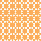 Digital orange color and circles paper Royalty Free Stock Image