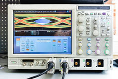 The digital oscilloscope Royalty Free Stock Images