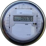Digital outdoor meter Royalty Free Stock Image
