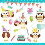 Digital Owls Birthday Party Royalty Free Stock Image