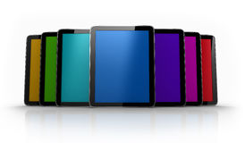 Digital pad tables of different colors Stock Images