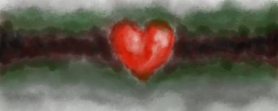 Digital painted heart Royalty Free Stock Image